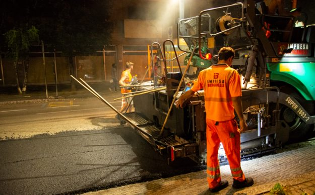 Interventi di riasfaltatura e sistemazione strade (Bergamo)